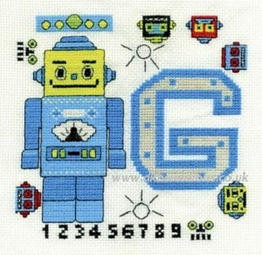 Funky Robot First Name Initial Sampler