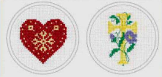 Heart & Cross Cross Stitch Kit