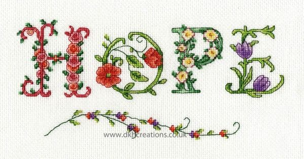 Hope Cross Stitch Kit
