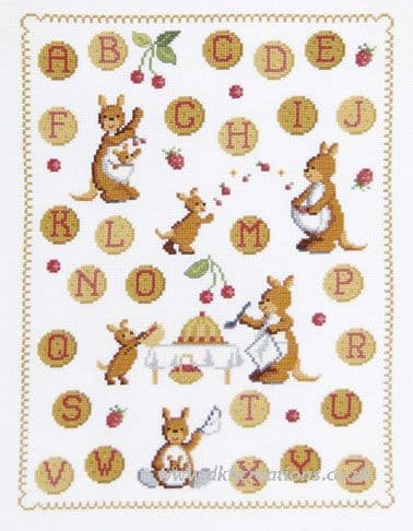 Kangaroos ABC Sampler Cross Stitch Kit