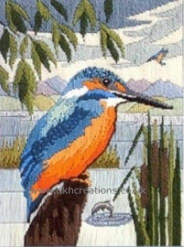 Kingfisher Silken Long Stitch Kit