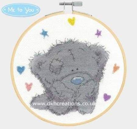 Me To You Tatty Teddy Bear Daydreams Hoop Cross Stitch Kit