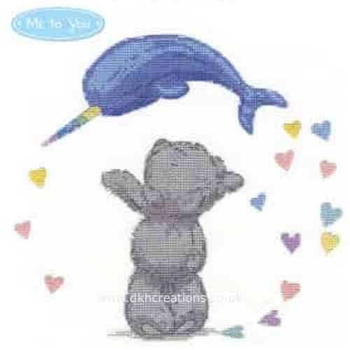 Me To You Tatty Teddy Narwhal Hearts Cross Stitch Kit