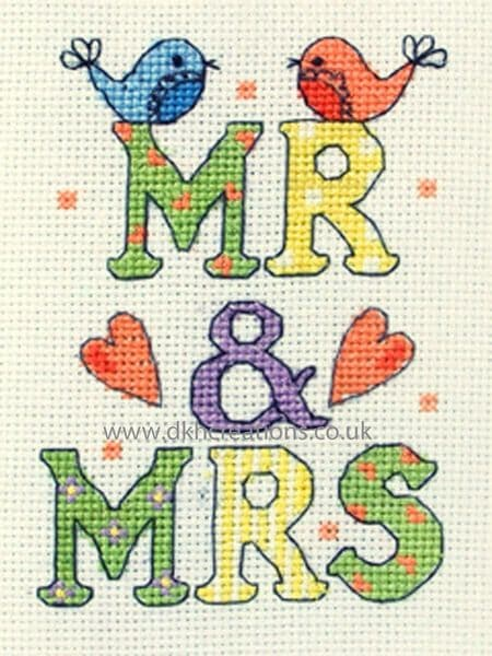 Mr & Mrs Wedding Cross Stitch Kit