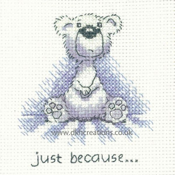 Peter Underhill Justin Just Because Greeting Card Cross Stitch Kit