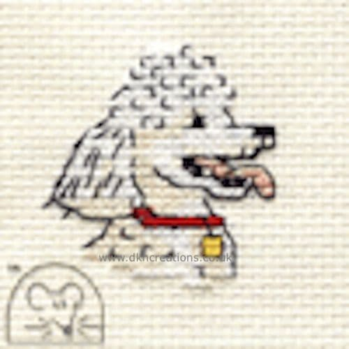 Poodle Dog Cross Stitch Kit