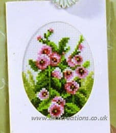 Primroses Greeting Card Cross Stitch Kit