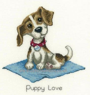Puppy Love Cross Stitch Kit