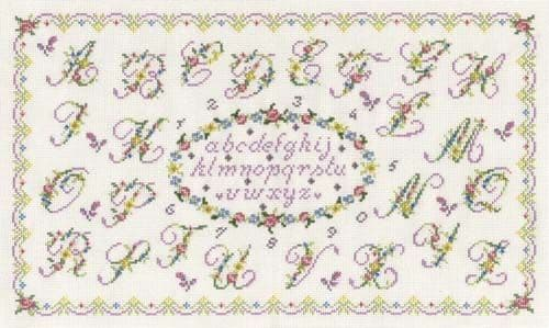 Romantic Sampler Cross Stitch Kit