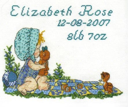 Sarah Kay Birth Sampler  Cross Stitch Kit