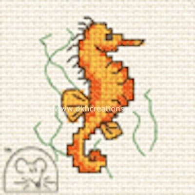 Seahorse By The Seaside Cross Stitch Kit