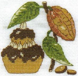 Secret Perfume Chocolate Cross Stitch Kit
