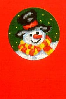 Snowmans Head Christmas Greeting Card Cross Stitch Kit