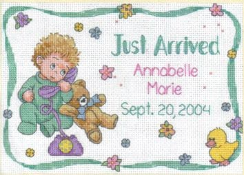 Someone New Birth Record Cross Stitch Kit