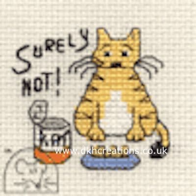 Surely Not ! Biscuit The Cat Cross Stitch Kit