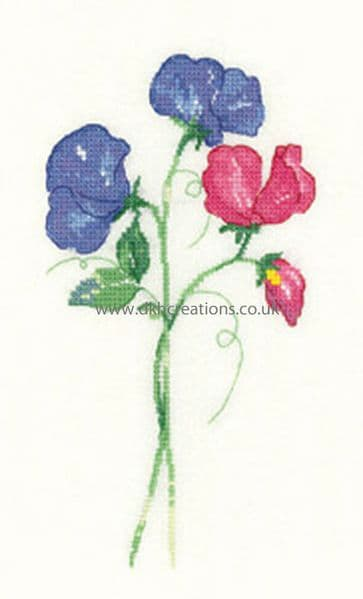 Sweet Peas Cross Stitch Kit