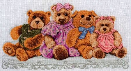 Teddy Shelf Cross Stitch Kit
