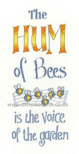 The Hum Of Bees Cross Stitch Kit