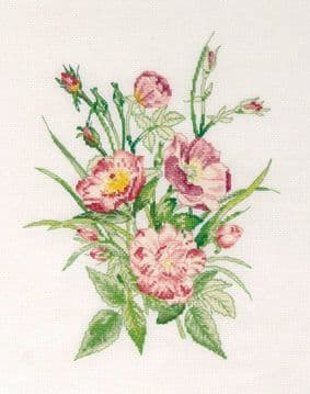 The Pink Bouquet Cross Stitch Kit