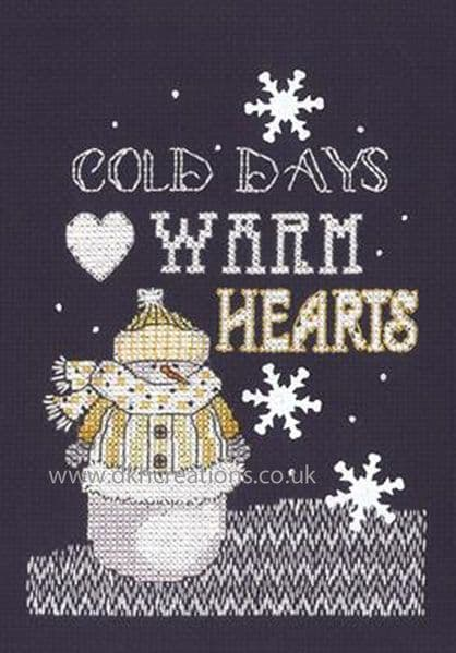 Warm Hearts Cross Stitch Kit