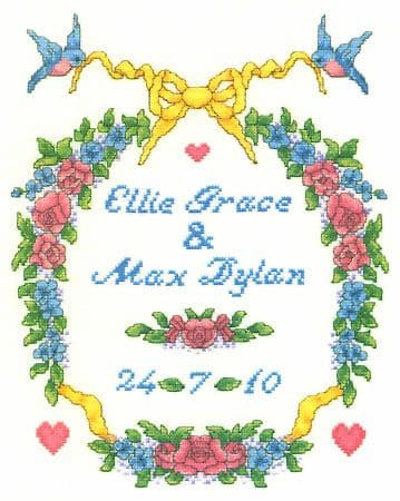 Wedding Garland Sampler Cross Stitch Kit