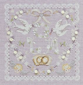 Wedding Heart Sampler  Cross Stitch Kit