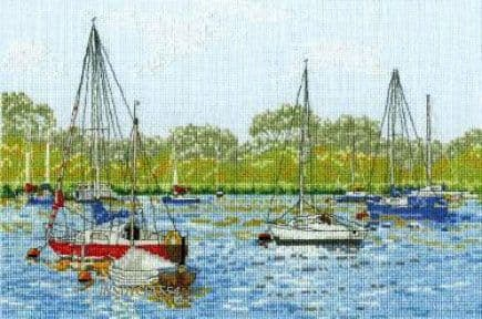 Yachts At Oulton Broad Cross Stitch Kit