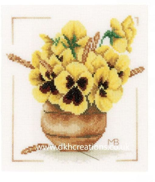 Yellow Violets Cross Stitch Kit