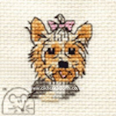 Yorkshire Terrier Dog Cross Stitch Kit