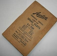 Austin. Commercial vehicles.List of spare parts for 4-5 ton.
