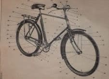 Bicycle.T.P.Heavy duty. Identification list.12169.
