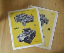 Daimler Ferret.British Army.'Individual tank recognition card.'Poster'