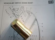 FV432.Door roof hatch.Bolt.
