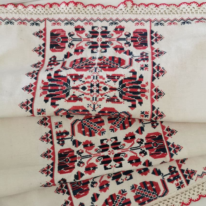 Antique  Transylvanian Embroidered Panel