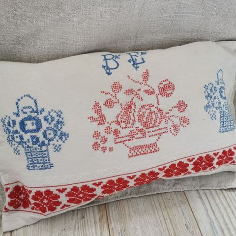 Cushion Cover from Vintage Embroidery' '