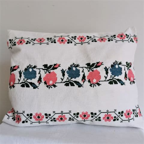 Cushion Cover from Vintage Embroidery.