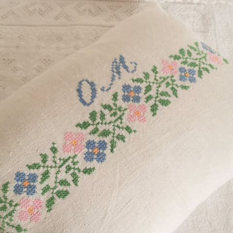 Cushion Cover from Vintage Embroidery..