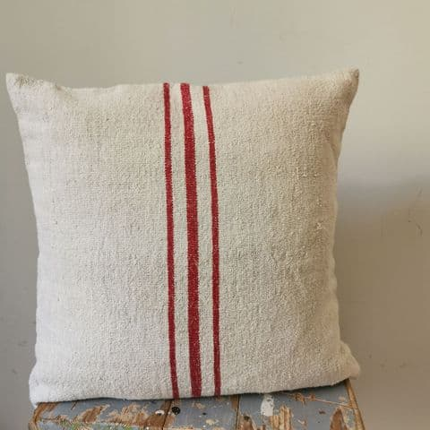 Cushion Cover from Vintage Sack Fabric. 1 available