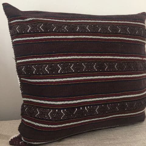Cushion Cover from Vintage Transylvanian Woven Fabric