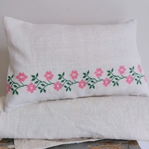 Cushion Covers from Vintage Embroidery  1 avail    .