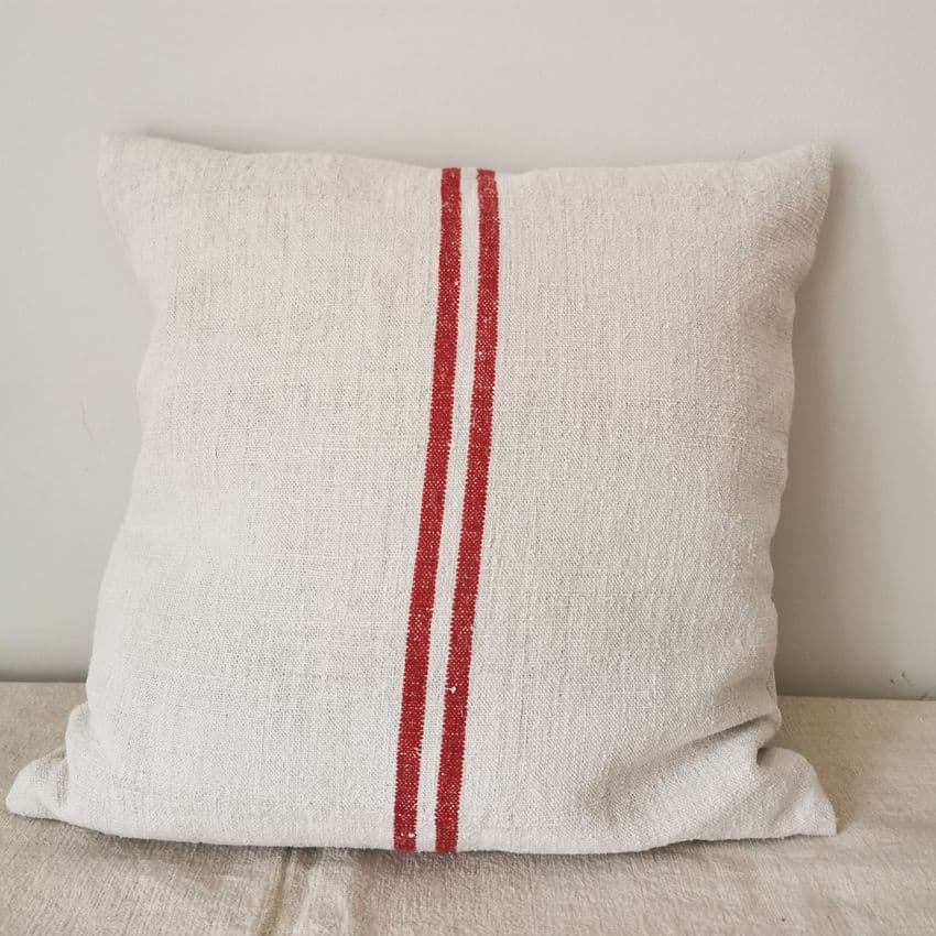 Cushion Cover from Vintage Grain Sack Fabric-parna