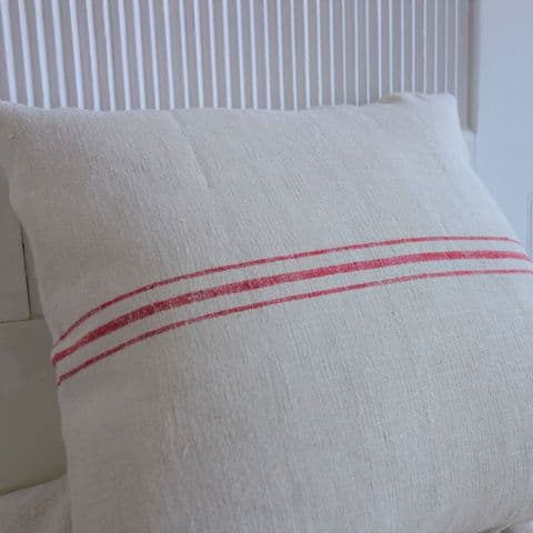Cushion Covers from Vintage Grain Sack. 1 avail