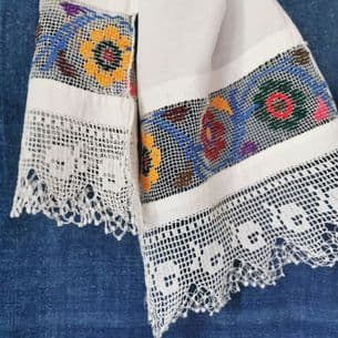 Embroidered Cloth/Runner 130x34cm