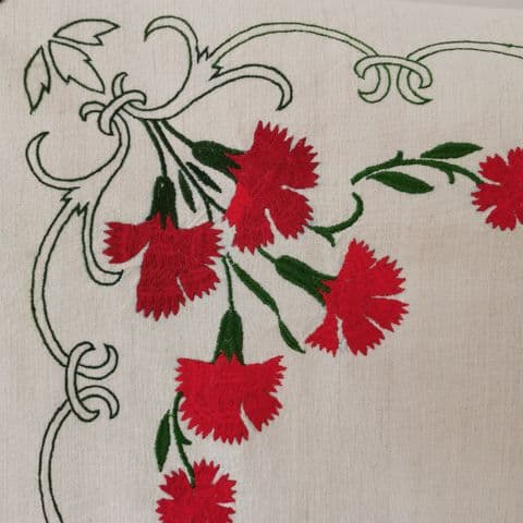 Hand Embroidered Table Cloth 174 x 103cm