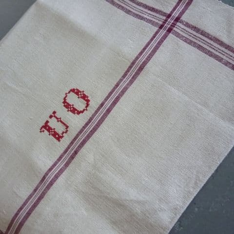 Monogrammed Tea Towel.  85 x 45cm.4 avail