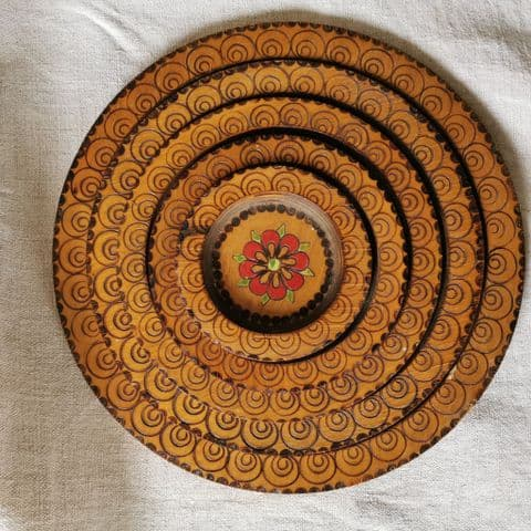 Set of Nested Wooden Wall Plates