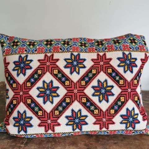 .Vintage Embroidered Cushion Cover