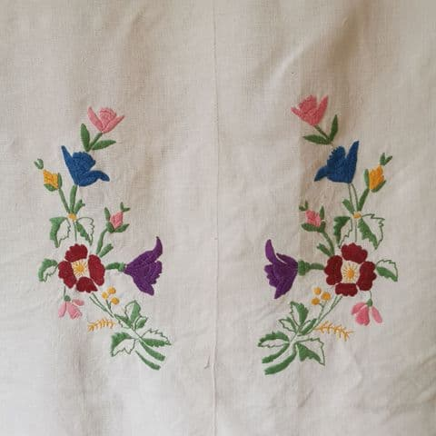 Vintage Embroidered panel