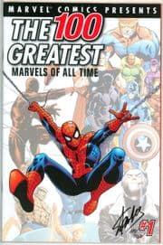 100 Greatest Marvels Of All Time #1 Dynamic Forces Signed Stan Lee DF COA Amazing Fantasy #15