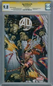 Age Of Ultron #10 Quesada Angela Variant 1:50 CGC 9.8 Signature Series Signed Stan Lee Marvel